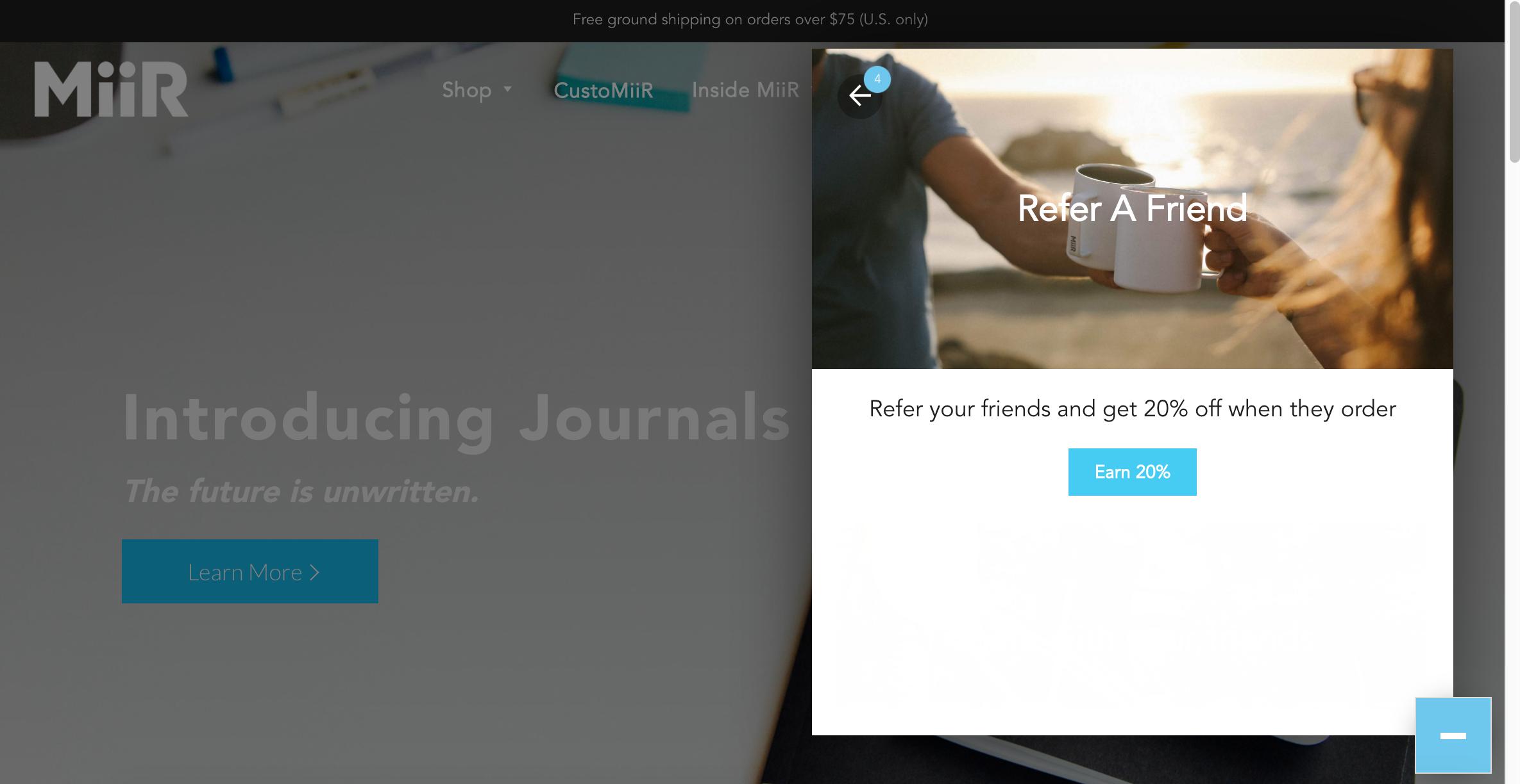 Navigate the full experience on  miir.com