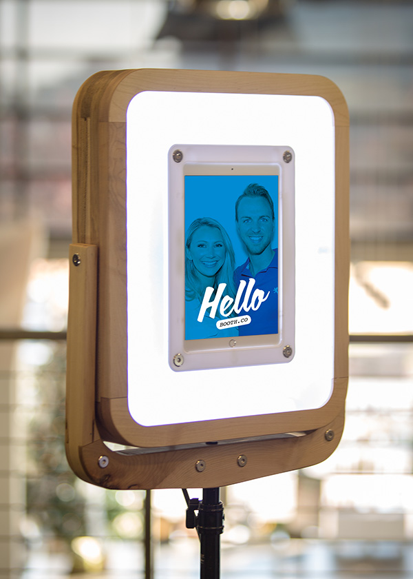 Serious Business Special Pricing - For a limited time, preorder your Hello Booth for special Serious Business attendee pricing of $399 for unit + stand. You simply provide an iPad Pro 10.5 inch*, download our app and you're ready to add rocket fuel to your social media.