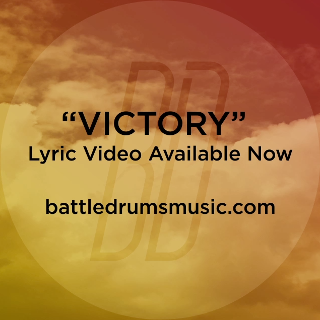"Did you see Battle Drums' ""Victory (The War is Over)"" lyric video yet? The War Is Over drops July 3. #thewarisoverb"
