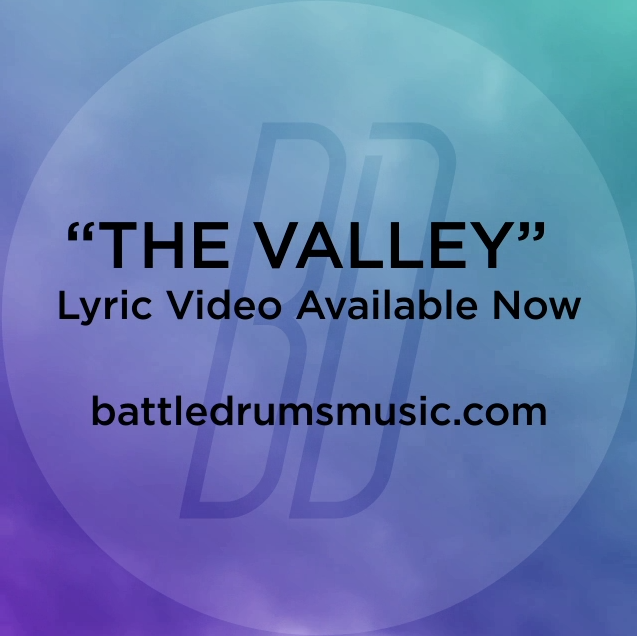 "Did you see Battle Drums' ""The Valley)"" lyric video yet? The War Is Over drops July 3. #thewarisoverb"