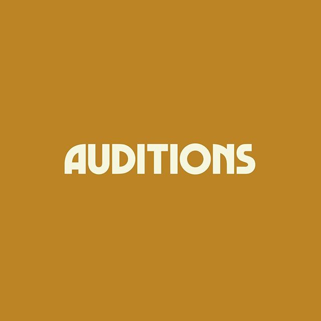 It's that time again! Our last auditions of 2019 are on Saturday, October 26. Apply on our website no later than Saturday, October 19. Link in bio!