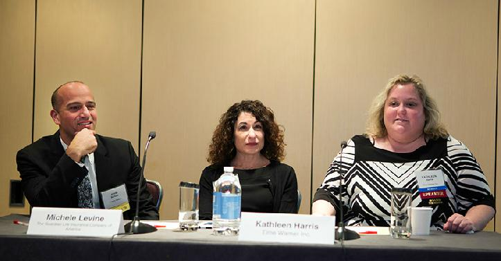 John Barkett (Director of Health Policy Affairs and Exchange Solutions at Towers Watson), Michele Levine (2nd Vice President and Health of Corporate Benefits at the Guardian Life Insurance Company of America), Kathleen Harris (Vice President of Benefits at Time Warner Inc)