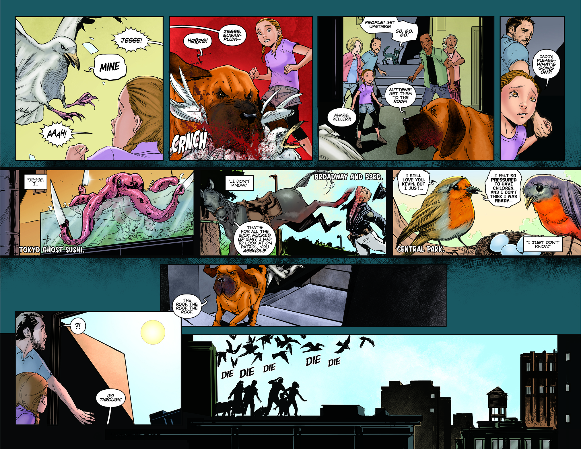 ANIMOSITY #1 PAGES 12-13 AFTERSHOCK COMICS