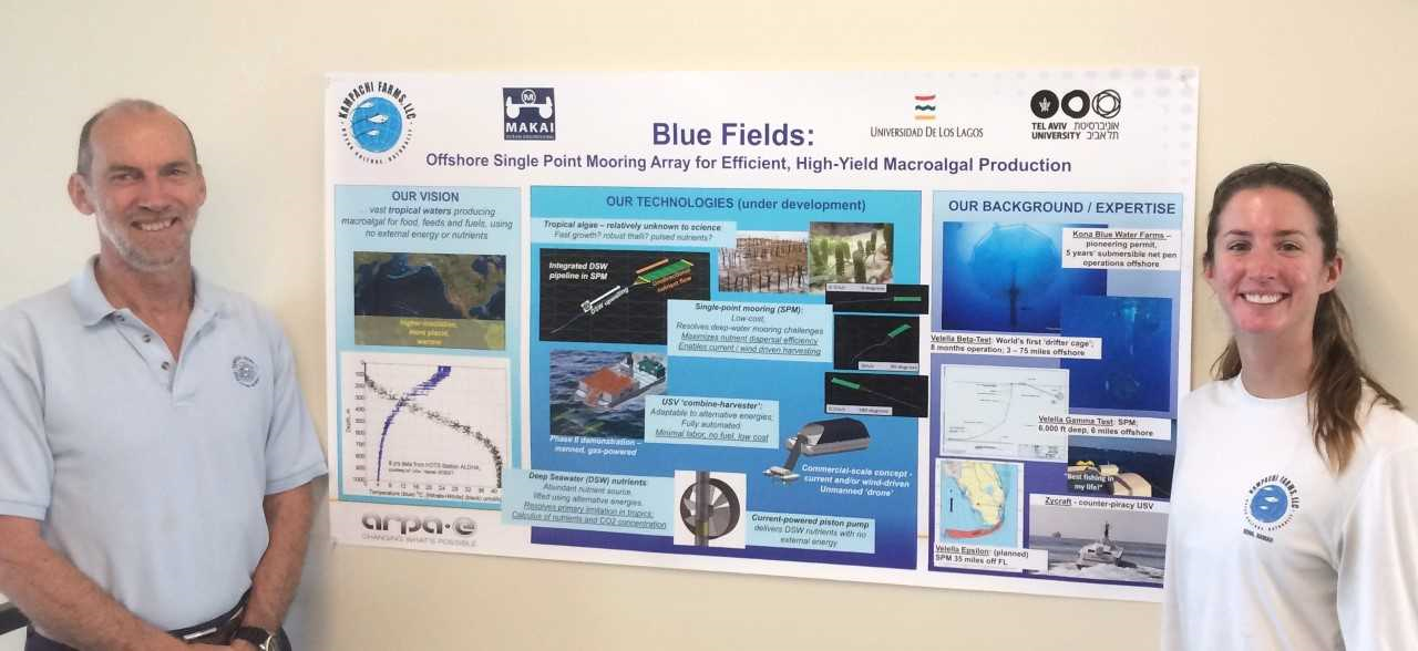 Neil Sims (Chief Science Officer) and Lisa Vollbrecht (Research Manager) presenting the Blue Fields Project at the ARPA-E kickoff meeting.