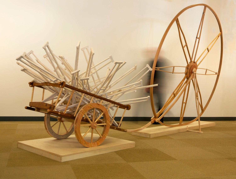 tom-gormally-sculpture-wheel-crutches-scale-view.jpg