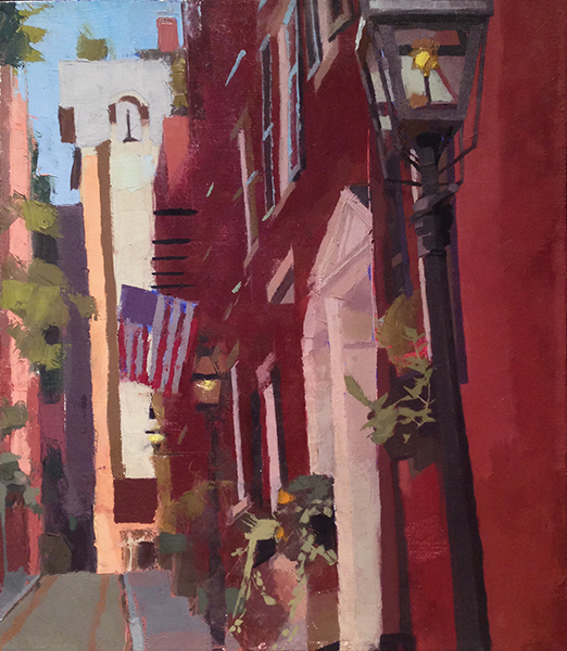 Acorn Street -- 16 x 14, Oil on Linen