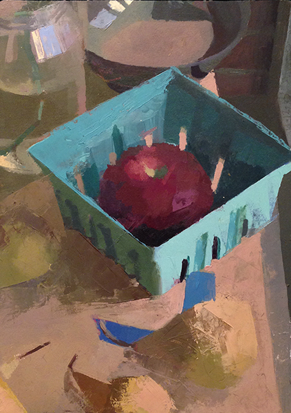Fall Still Life -- 12 x 8.5, Oil on Primed Paper on Panel