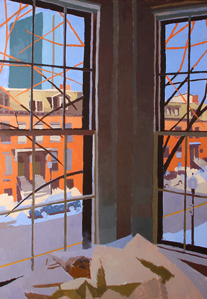 Sunrise on Warren -- 40 x 28, Oil on Linen