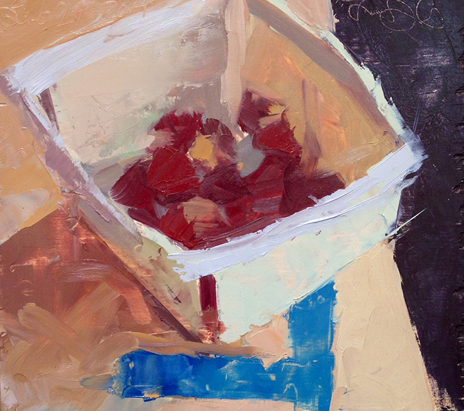 CCF Strawberries -- 7 x 8, Oil on Panel