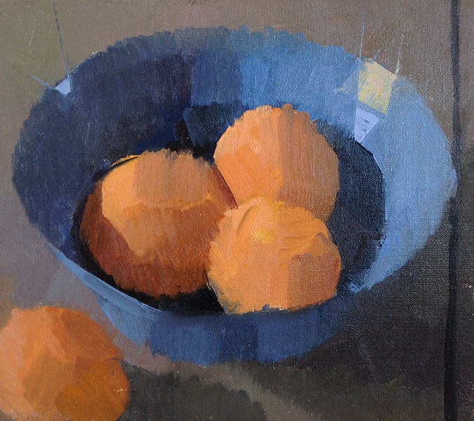 The Blue Bowl -- 8 x 9, Oil on Linen
