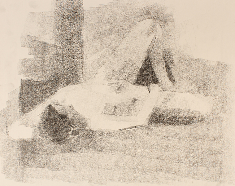 Repose -- 18 x 24, Graphite on Paper