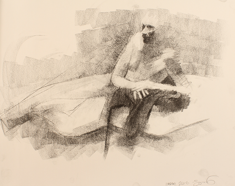Man Reclining -- 18 x 24, Graphite on Paper