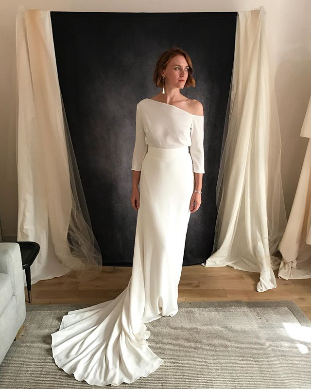 We found some really special new designers this market and look forward to sharing them with you at upcoming trunk shows. @thelawbridal features amazing materials (silks and wools!) and effortlessly chic lines. Stay tuned for a complete list of our trunk show schedule!