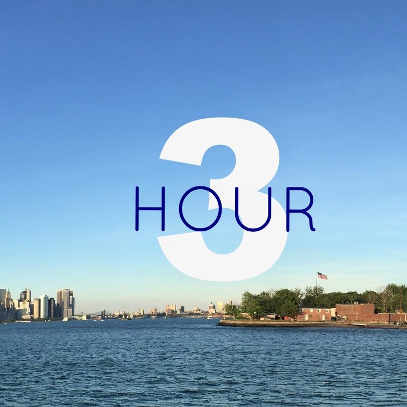 three hour private sailboat in NY Harbor