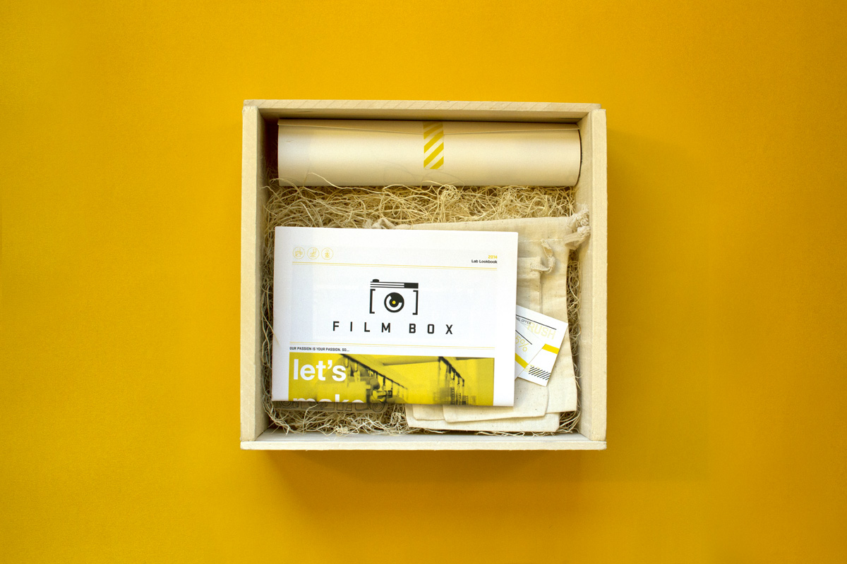 open box for film box promotional mailer