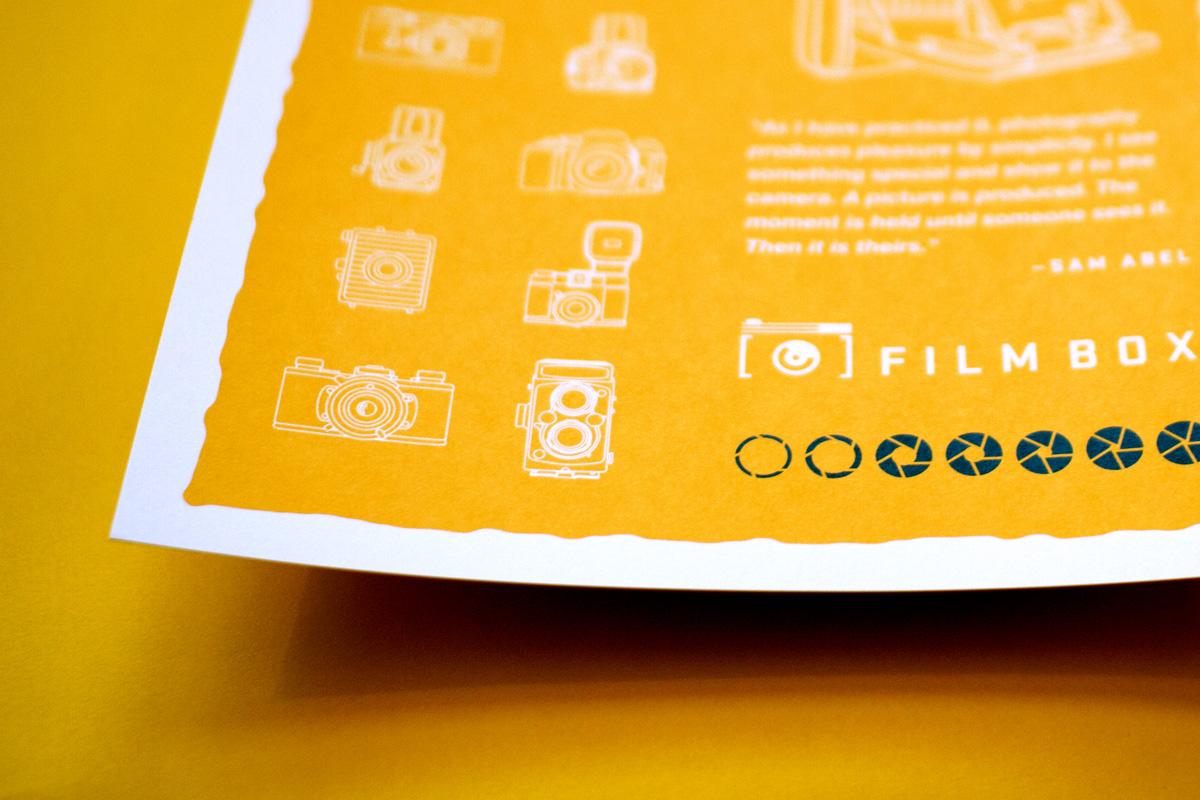 detail of Film Box screen printed poster design