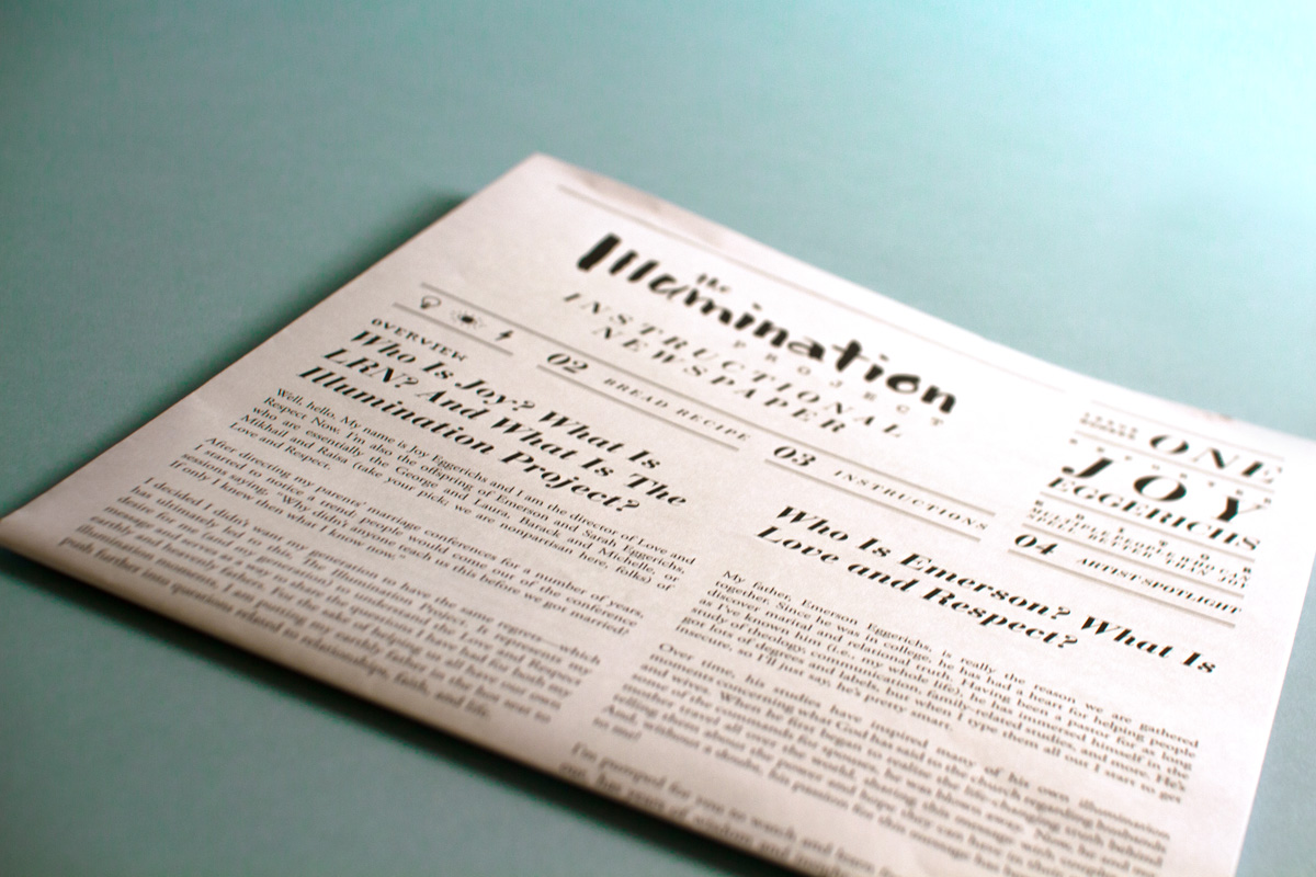 the illumination project newspaper detail