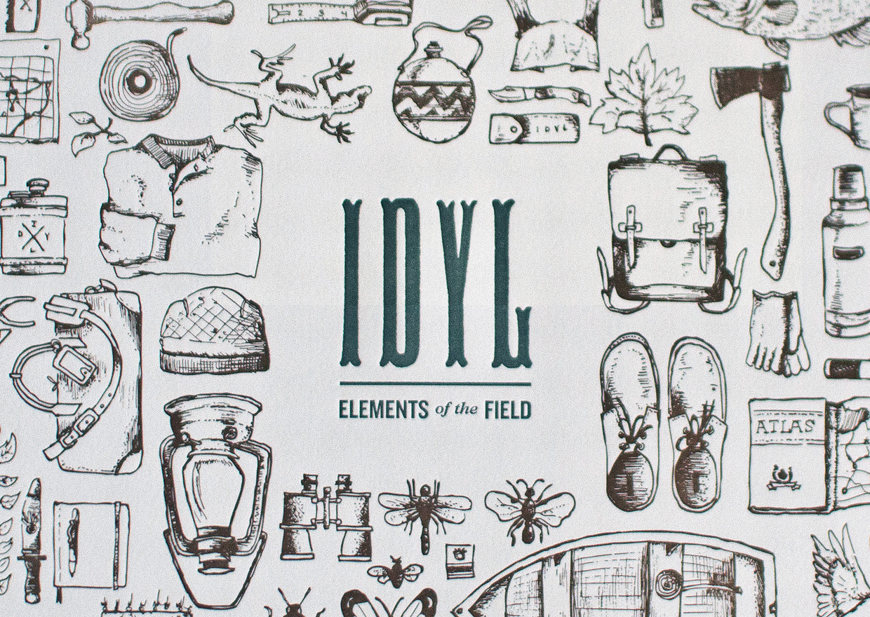 idyl elements of the field commemorative letterpress design