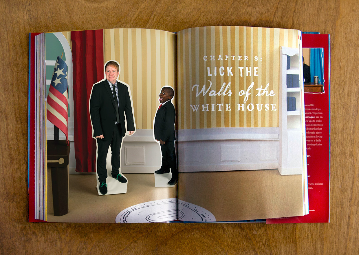 Kid President chapter eight lick the walls of the white house paper craft oval office flag and chapter header divider section for book