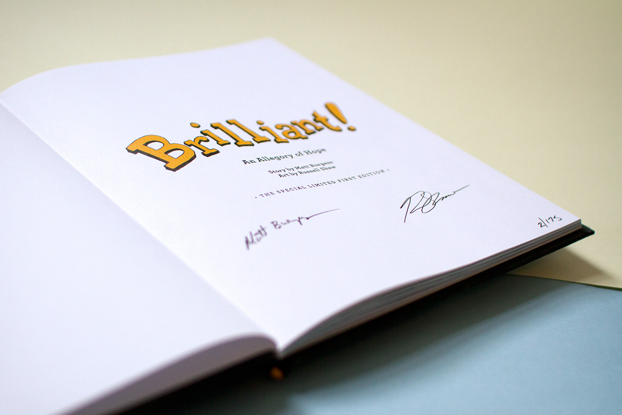 The first hardcover editions of the children's book featured signatures on the title page by the author and the artist.