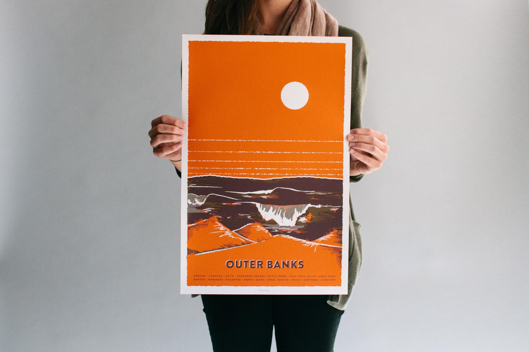 Orange Outer Banks bearings guide illustration