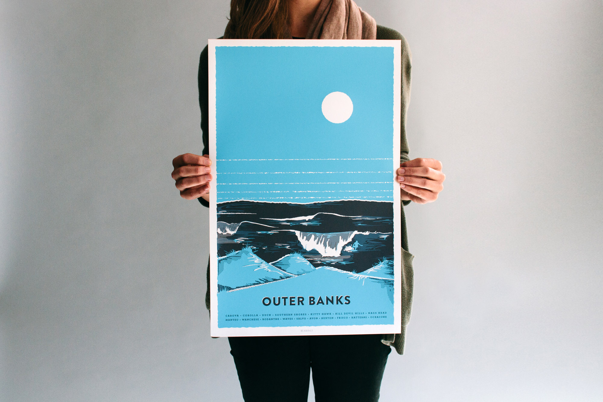 Blue Outer Banks bearings guide illustration