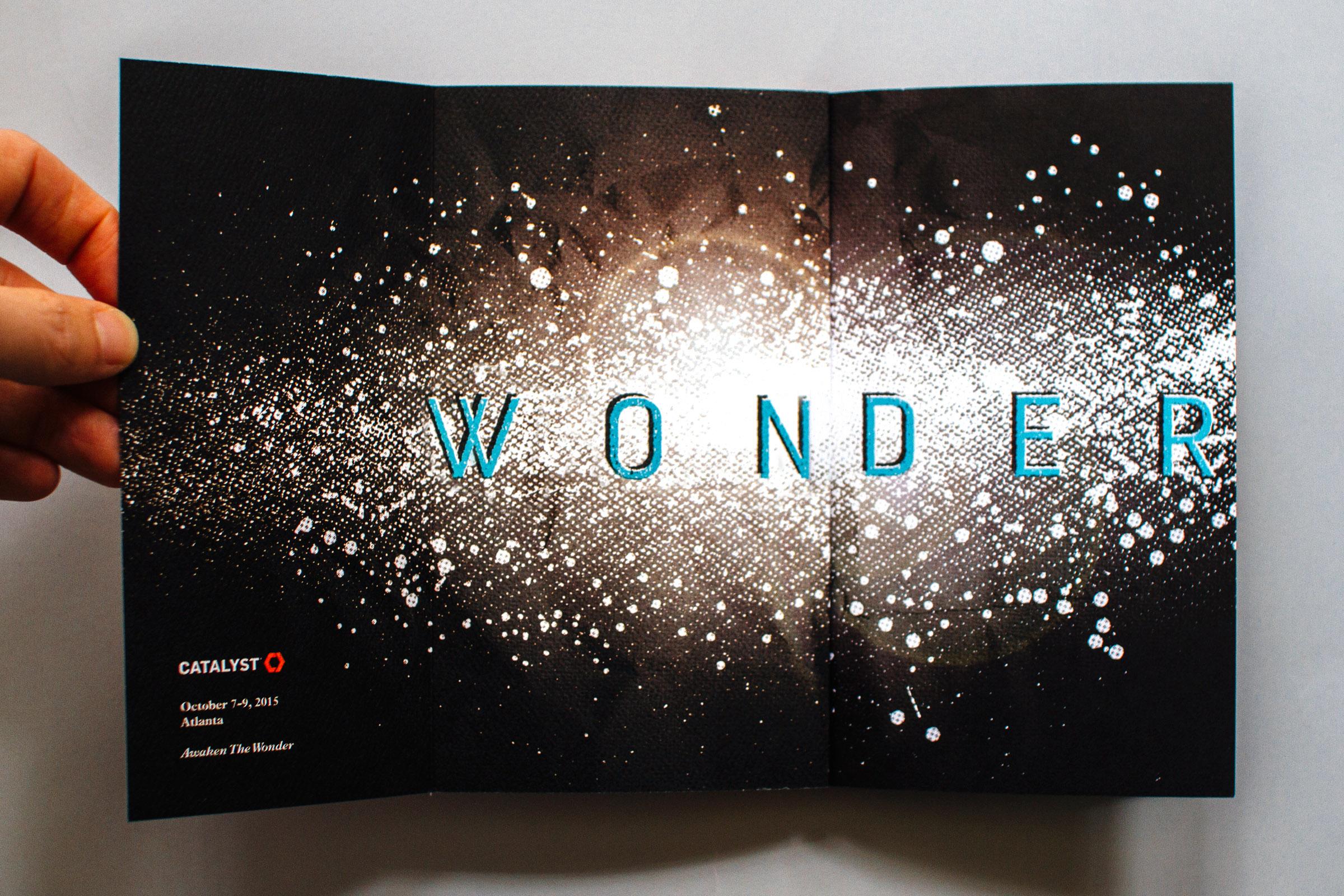 awaken the wonder, inside cover design