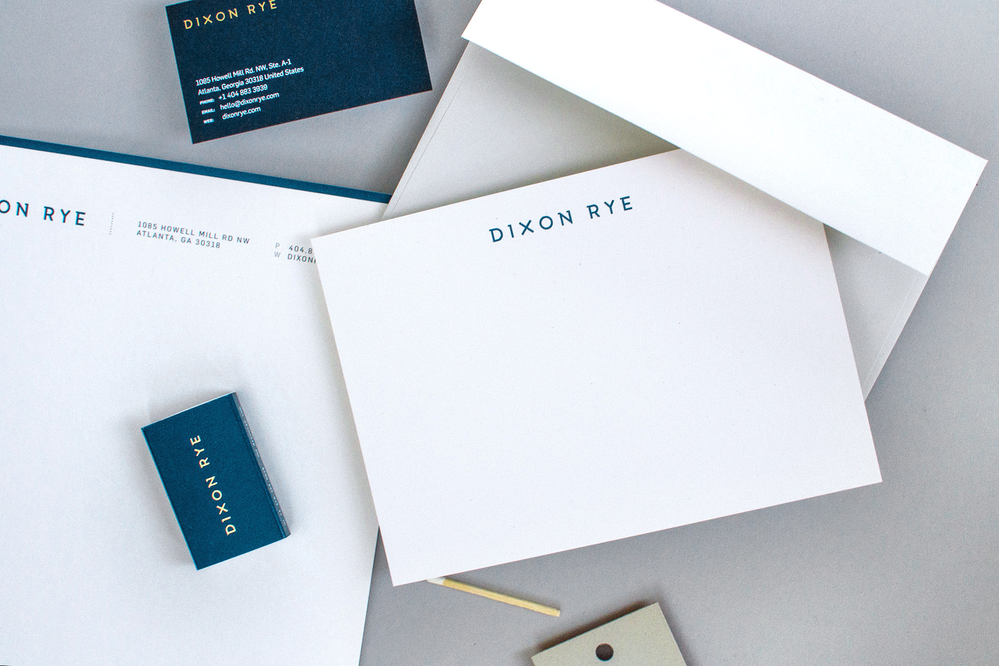 dixon-rye-stationery-matchbox-letterhead-notecard-business-card
