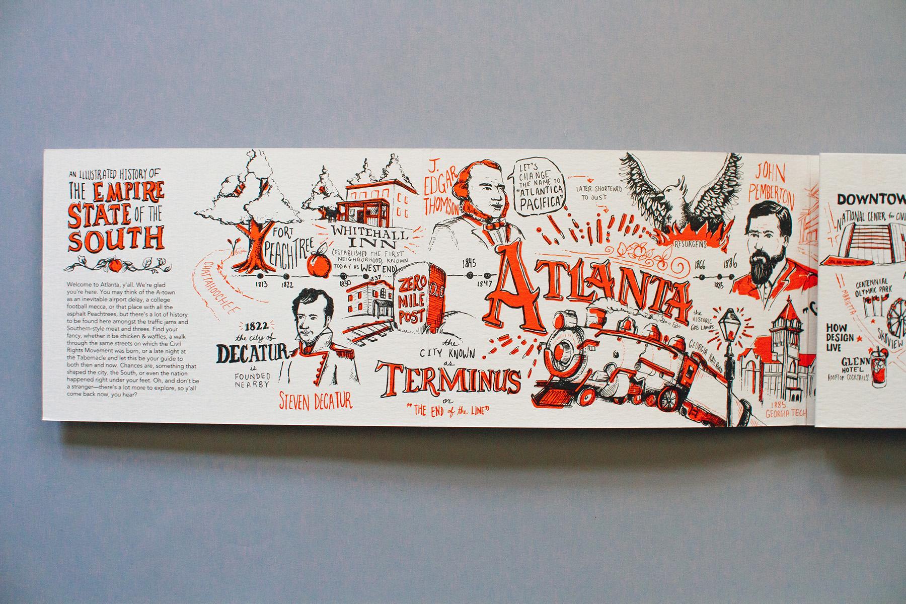 Neenah Atlanta Timeline, Up Close Detail 1