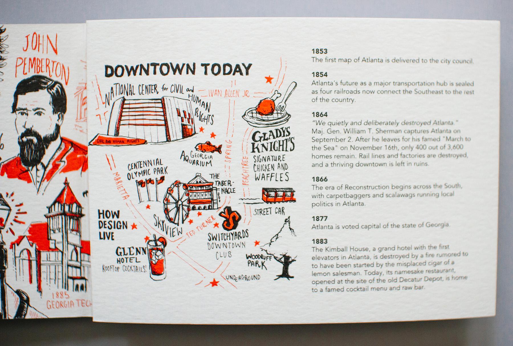 Downtown Today, Neighborhood Map, Illustrated