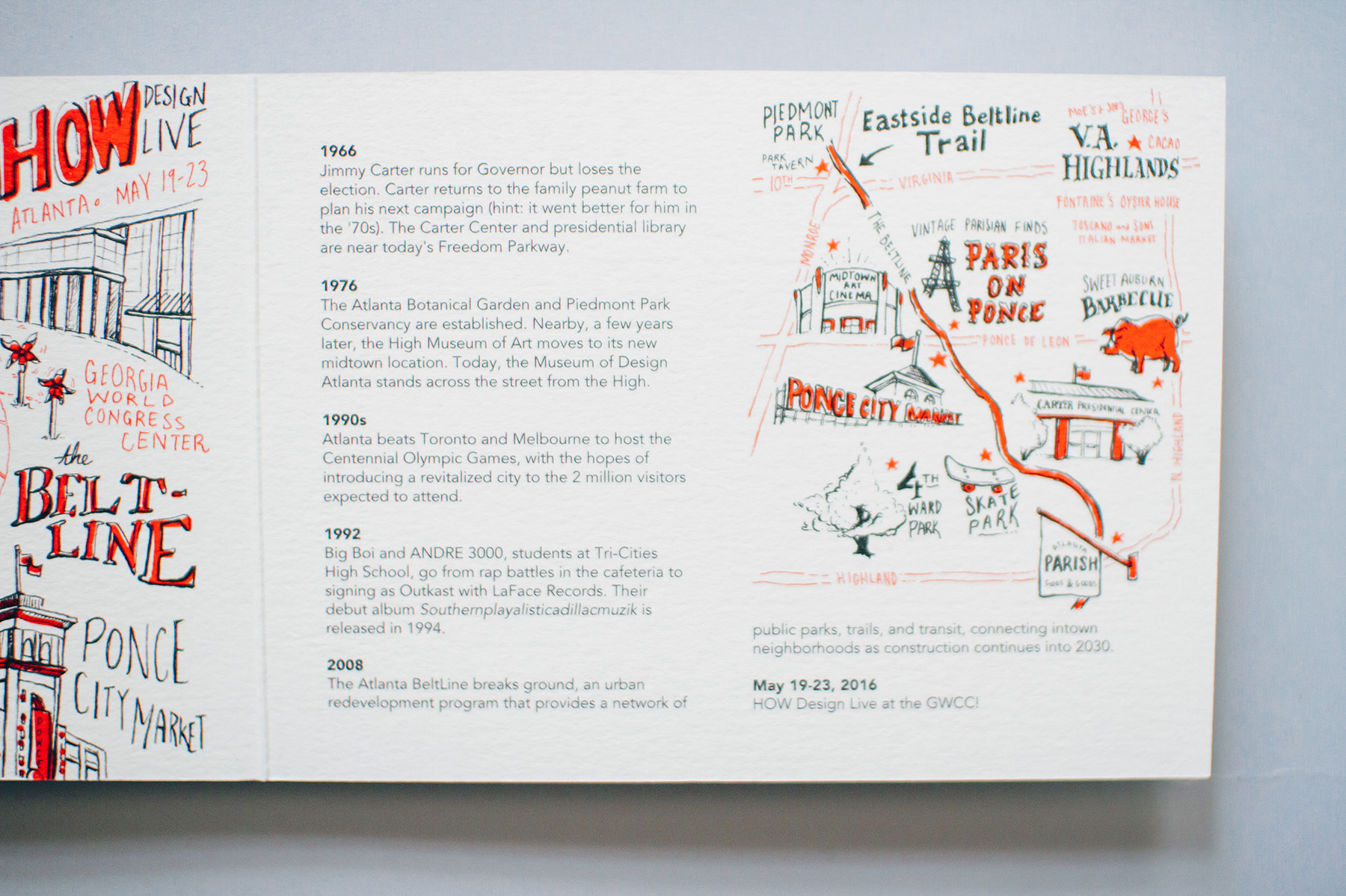 Midtown and Old Fourth Ward illustrated map Atlanta