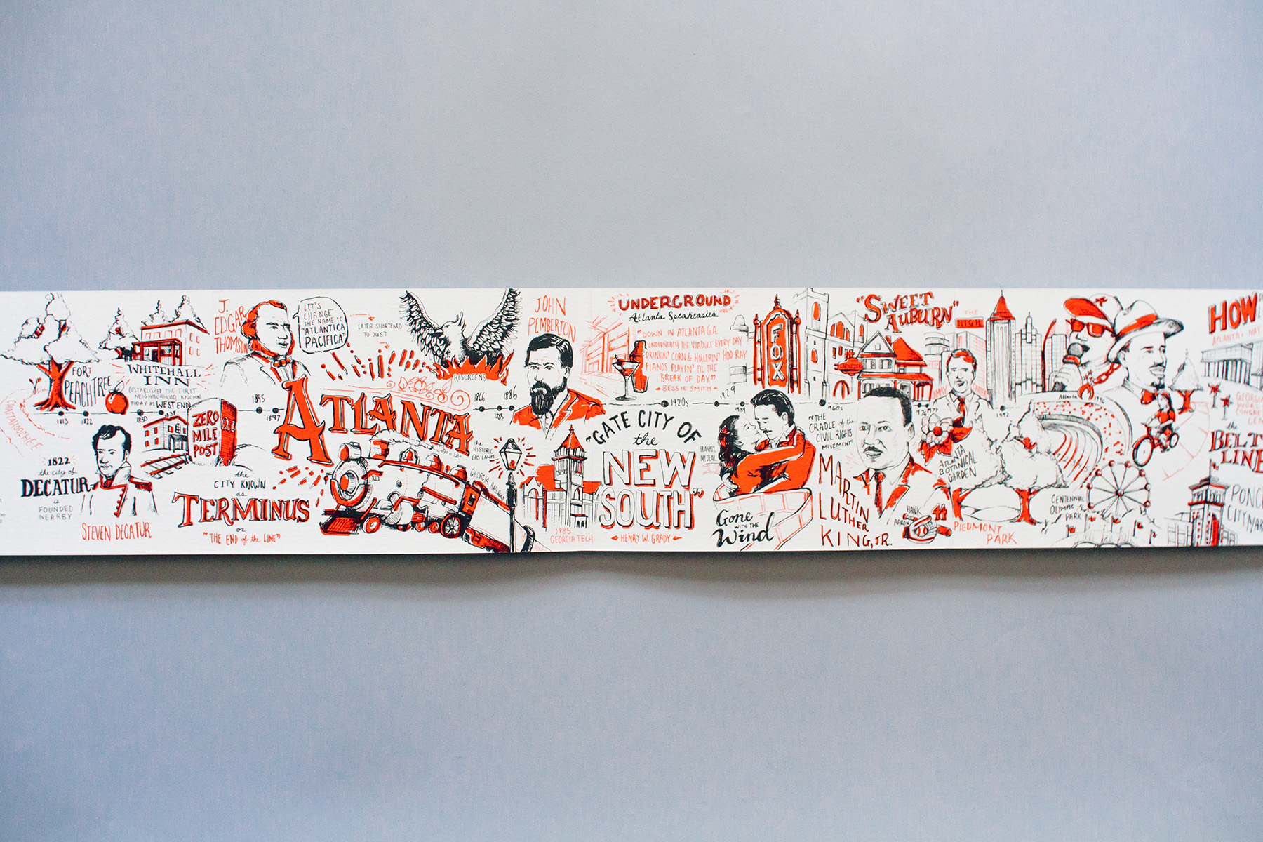 Atlanta illustrated historical timeline