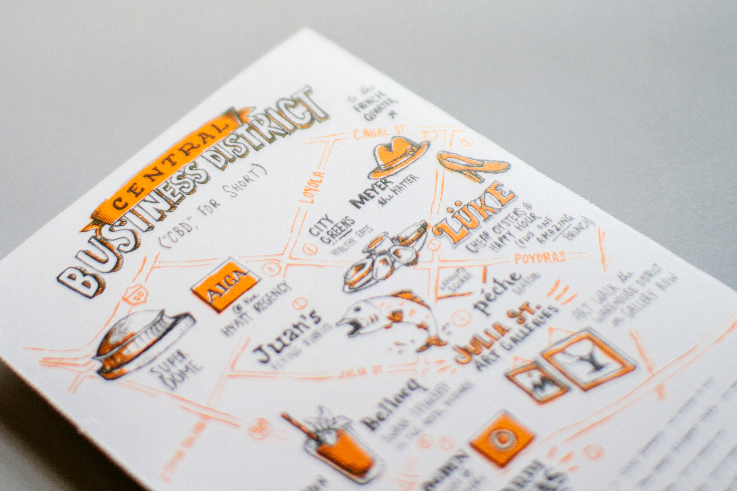 detail photo of Central Business District illustrated map