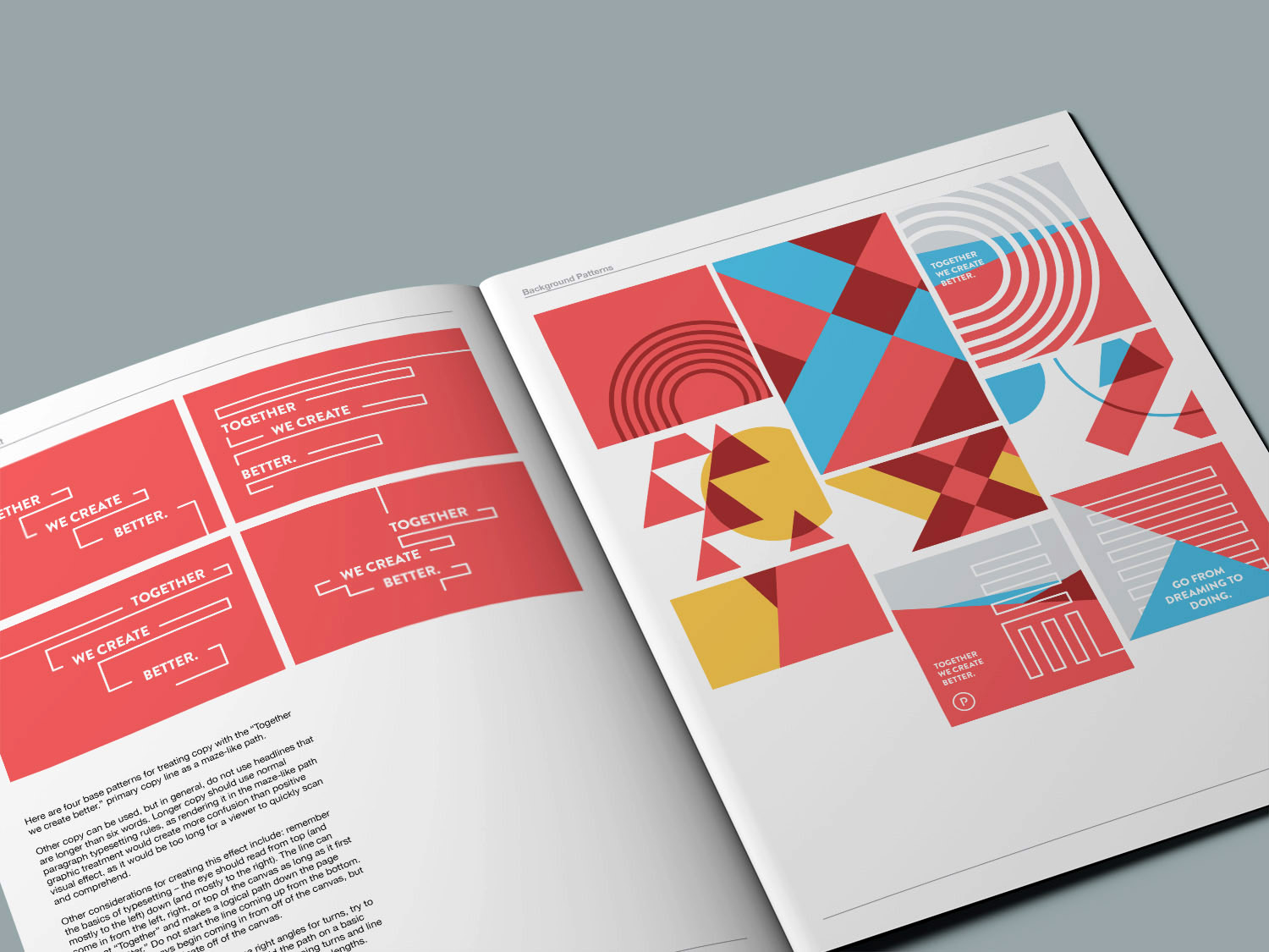 Brand style guidelines shows how to use the graphic design system of the line maze assets and elements and the patterns to use in the branding.