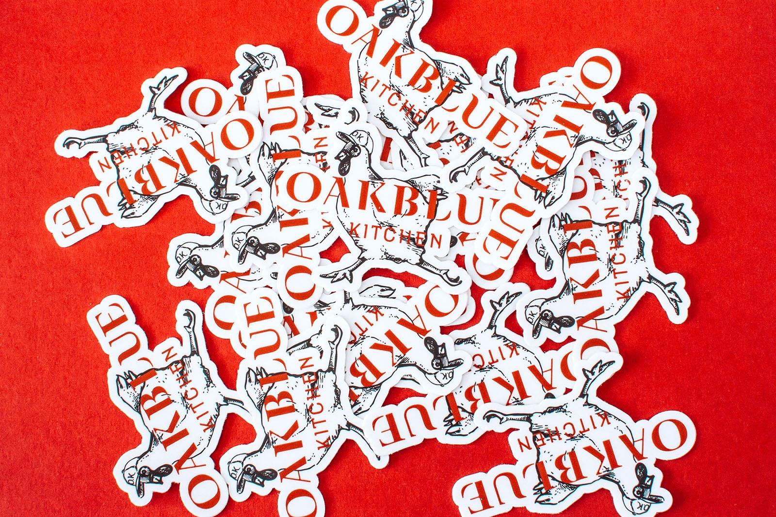 oakblue kitchen stickers