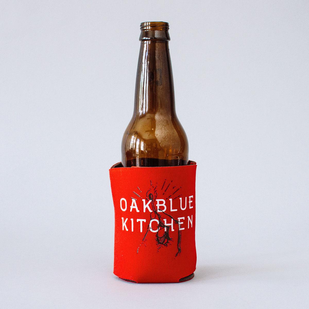 oakblue kitchen beer koozie