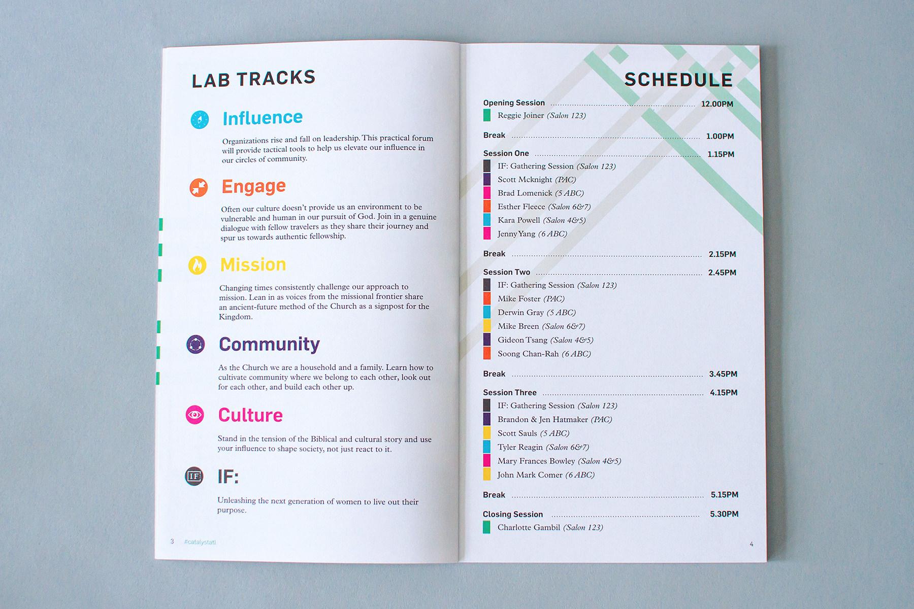 catalyst labzine tracks schedule editorial layout