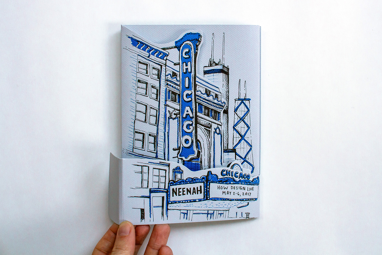 Neenah Presents Chicago, Cover, Dieline Opening