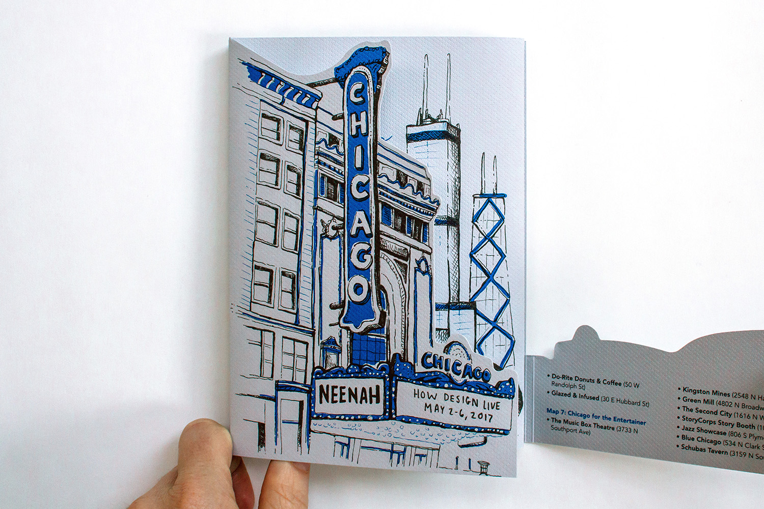 Neenah Presents Chicago, Cover, Dieline Opening 2