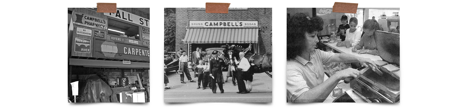 Historical moodboard and inspiration for The Common Cure restaurant branding in Greenville South Carolina.