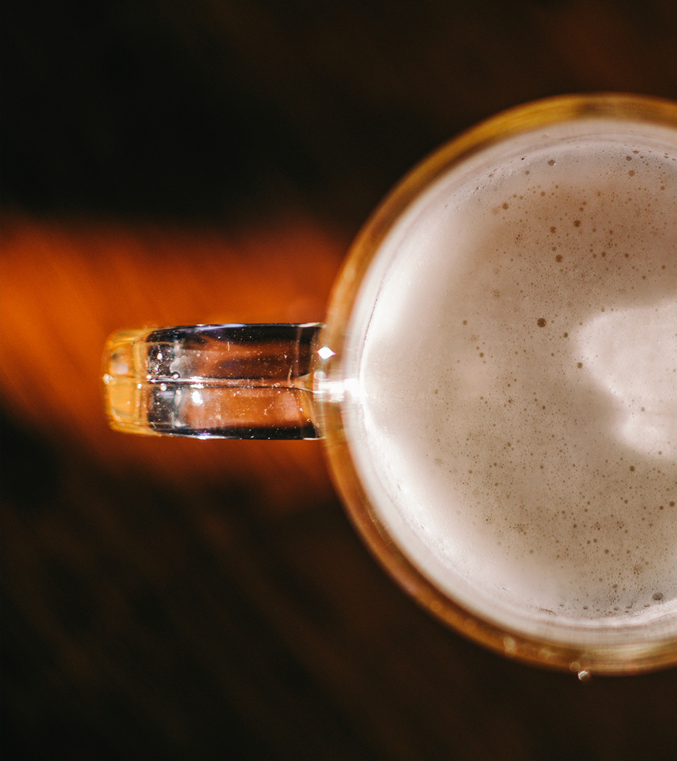 top down photo of beer