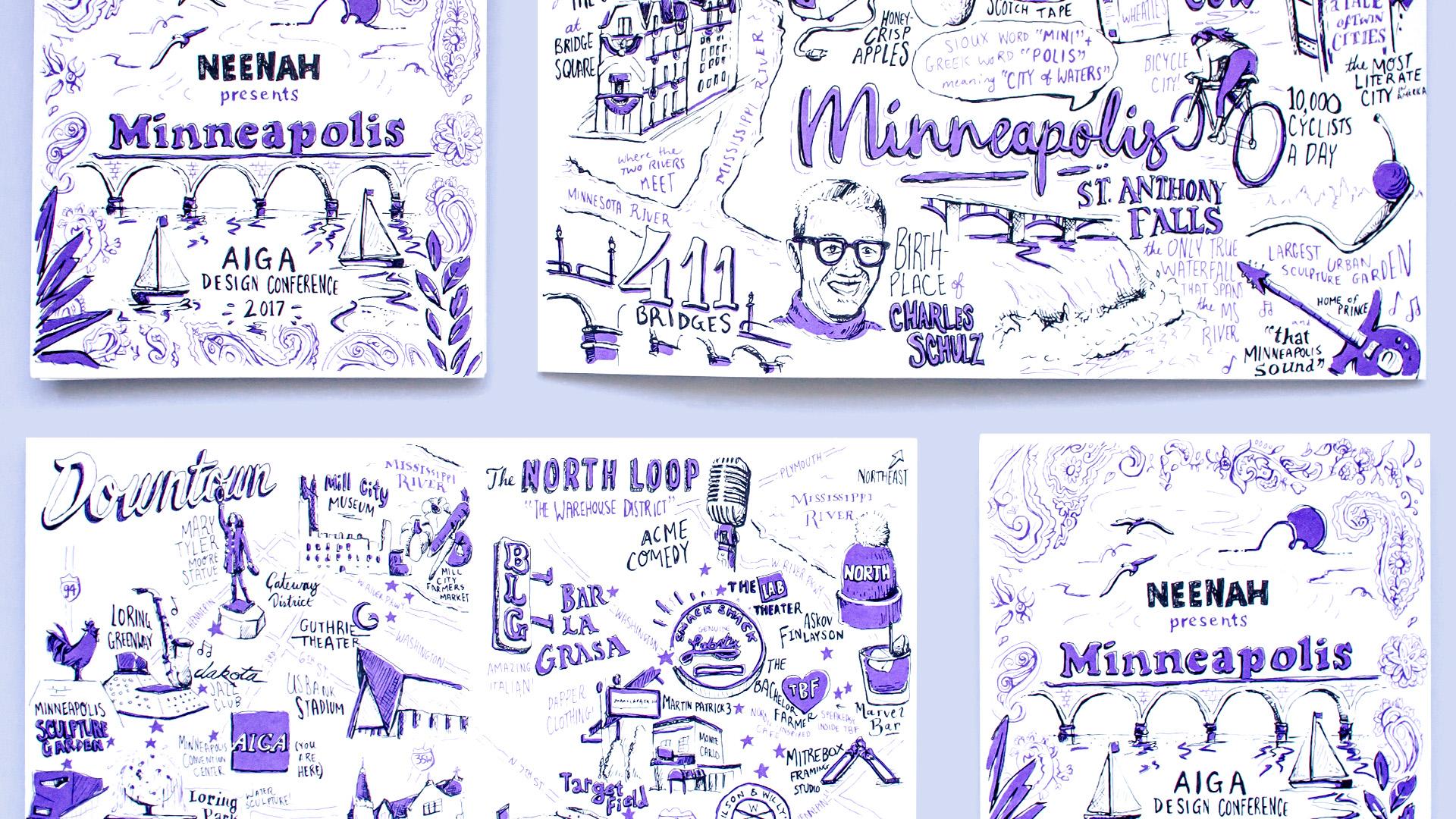 Neenah Minneapolis map unfolded