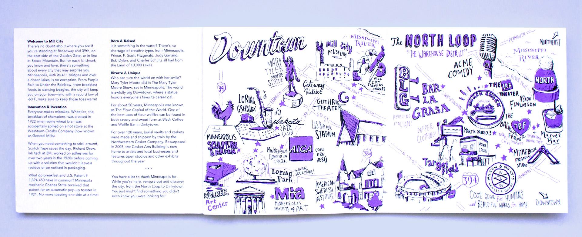 Neenah Minneapolis Neighborhood Illustration City Maps, 1