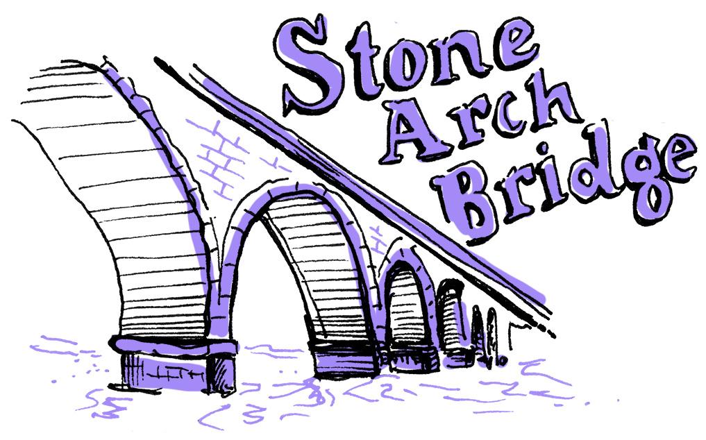 Minneapolis Stone Arch Bridge illustration