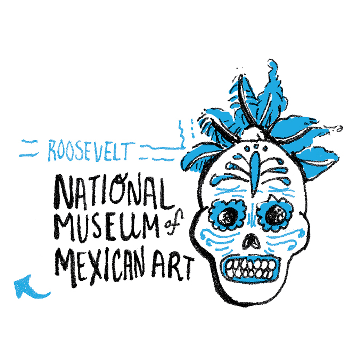 illustration of the Chicago national museum of mexican art