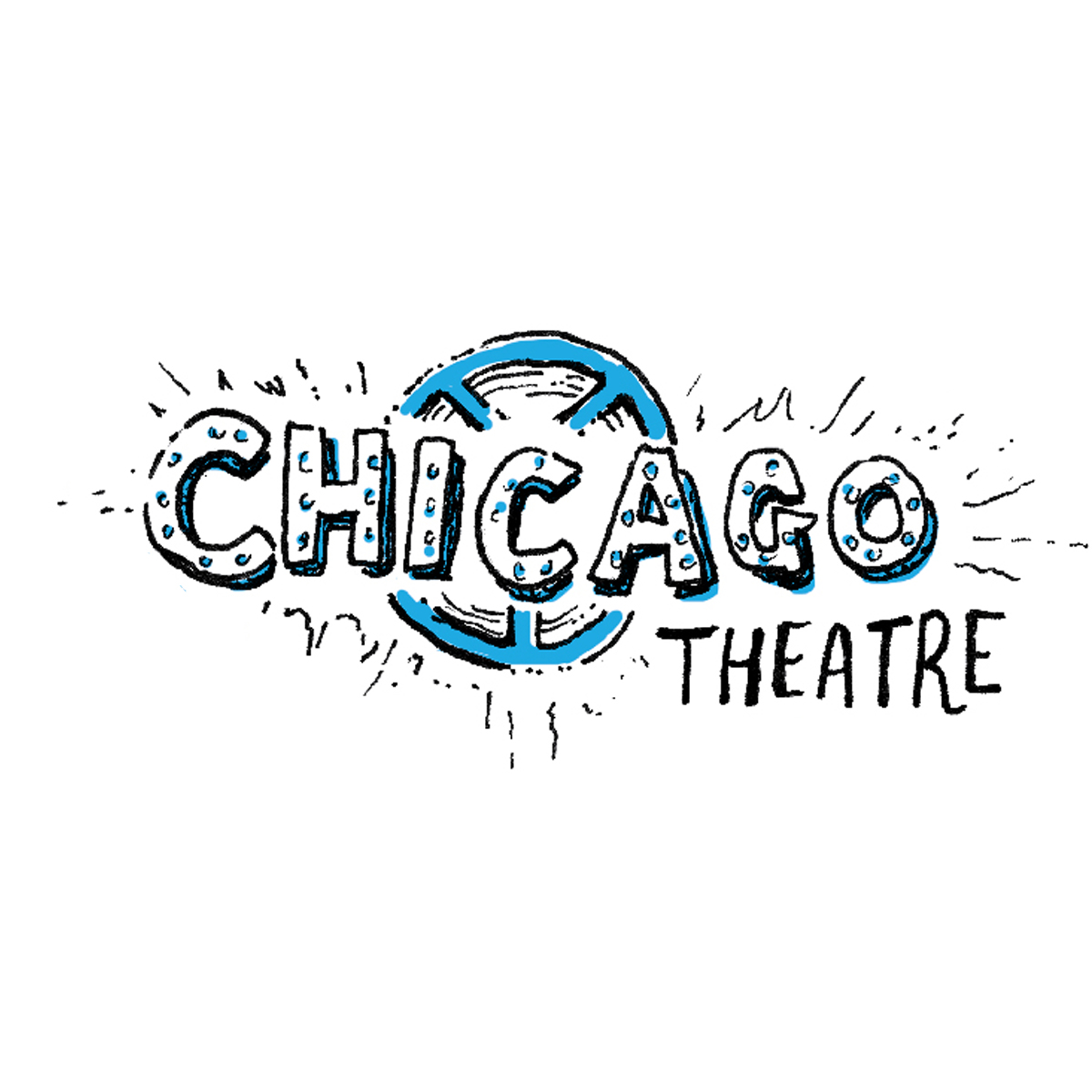 hand lettering of the chicago theater
