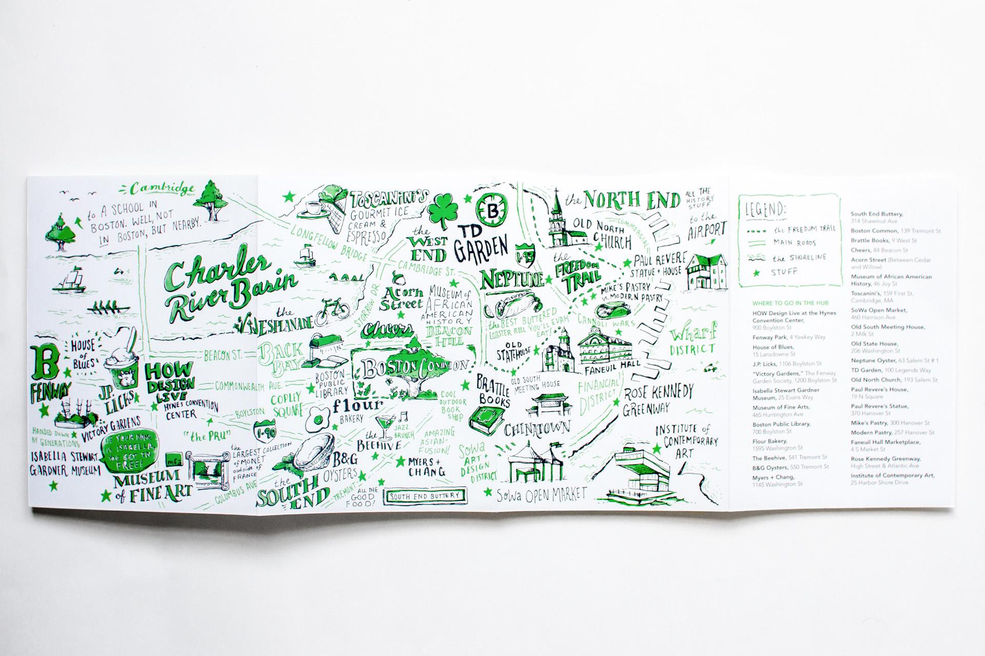 neenah presents boston full map and legend