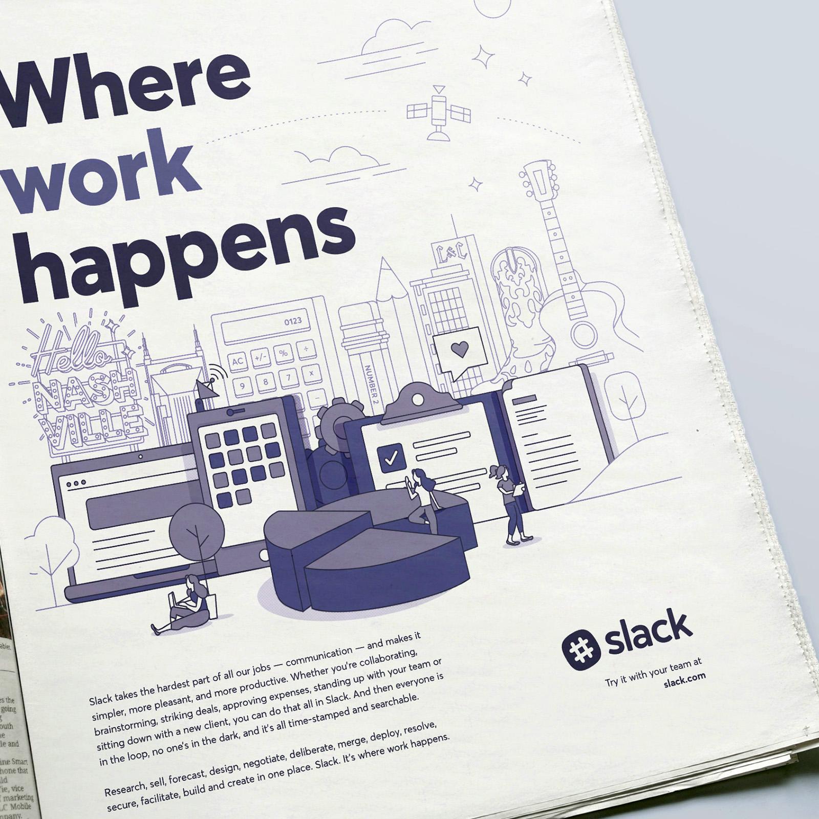 nashville slack newspaper advertisement
