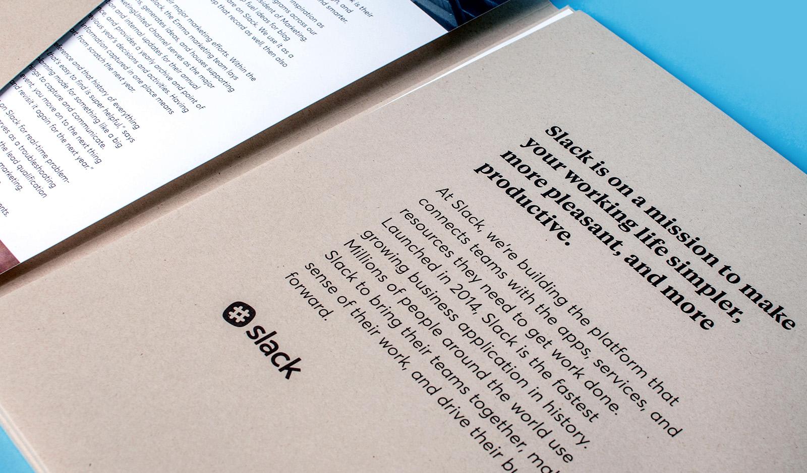 detail of Slack case studies folder