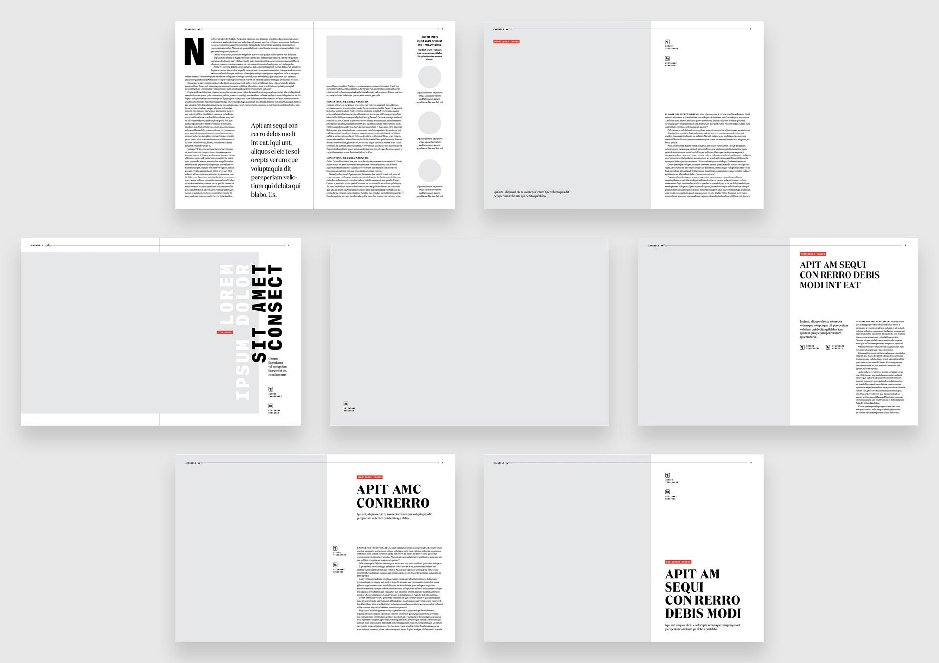Magazine templates and layout design options for Slack's Channels publication.